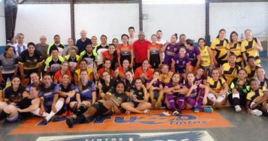 Futsal feminino em Solidariedade ao Thomás