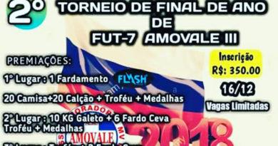 2º Torneio de final de Ano de fut 7 na Amovale